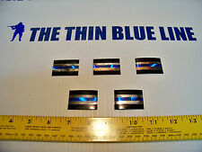 Thin Blue Line SILVER/ Holographic 5 pack! -Free Shipping & Free Bonus decal!!