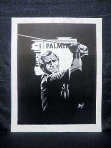 Masters Champion Arnold Palmer Edward Roge PGA Golf Limited Edition Lithograph