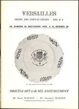FAIENCES ET PORCELAINES FRANCE ETRANGER DIVERS 1978