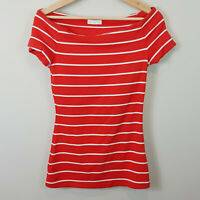 KOOKAI | Womens Off shoulder striped Top [ Size 2 or AU 12 or US 8 ]