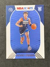 Anthony Edwards 2020-21 Panini NBA Hoops 1st TRUE ROOKIE Timbewolves RC #216