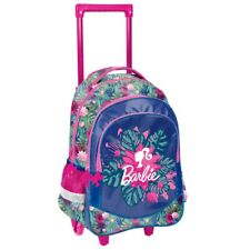 BARBIE TROLLEY School Bag Backpack on wheels wheeled bag licensed NEW