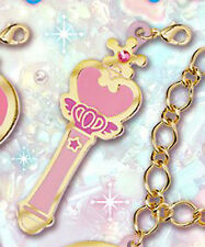 Sailor Moon Pink Moon Stick Fastener Accessory Metal Charm NEW