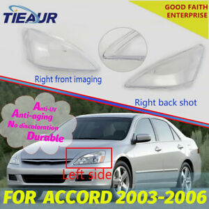 Headlight Lens Cover Transparents Shell For Honda Accord 2003-2006 (Pair)