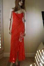 Blumarine red cha cha salsa leopard dress gown I 40 NWT