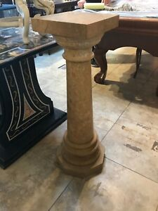 Unique Shaped Marble Pedestal