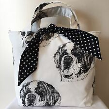 St Bernard Dog Print Bag