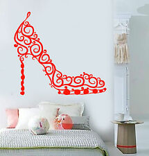 Vinyl Wall Decal Beautiful Female Shoe Store Shop Girl Room Stickers (1257ig)