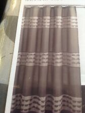Excell Home Fashions Fabric Shower Curtain, 70 X 72, NWT, Piper Taupe