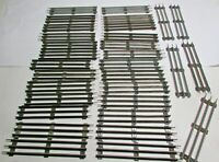 """Vintage Lot of 31 Straight 8"""" Lionel 3 Rail O Scale Tracks"""
