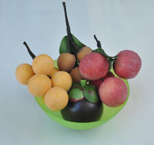 Lifelike Artificial Tropical Fruits Set of Langsat Lychee Mangosteen Longan