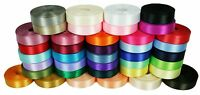"10 Yards Rolled up 7/8"" SINGLE FACE SATIN Ribbon 100% Polyester Choose Color"