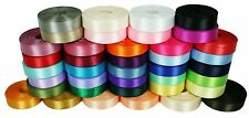 """Rolled up 7/8"""" SINGLE FACE SATIN Ribbon 100% Polyester Choose Color & Yards"""
