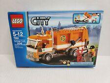 Lego City Garbage Truck 7991 Orange CIB 2007