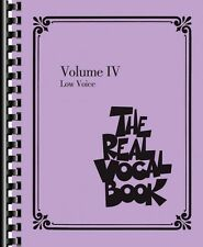 The Real Vocal Book Volume IV Low Voice Real Book Fake Book NEW 000118319