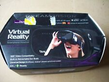 TZUMI Dream Vision Virtual Reality  Smartphone Headset & Earbuds #4589