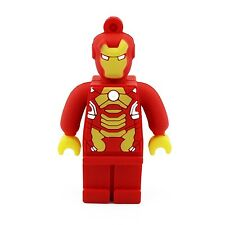 8GB Ironman Lego Edition Flash Drive, Memory Storage Device, Thumb Drive