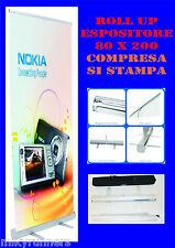 Espositore-ROLL UP 85x200 con Stampa personalizzata totem striscione banner