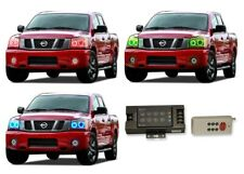 for Nissan Titan 04-14 RGB Multi Color RF LED Halo kit for Headlights