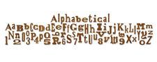 Sizzix Stanze Sizzlits Decorativ Strip Alphabet Die Alphabetical 657482