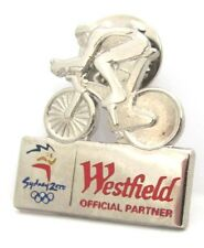 WESTFIELD SILVER BIKE RIDER SYDNEY OLYMPIC GAMES 2000 PIN BADGE COLLECT #157