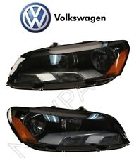 VW Passat 12-16 Pair Set of Left & Right Headlight Assemblies Halogen Genuine