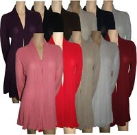 Ladies Women's Knitted Waterfall Cardigans Tops Sweaters Full Sleeves Plus Sizes