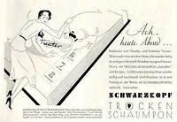 Schwarzkopf & Dame & Terrier Reklame 1931 Hund shampoo Kalender Werbung