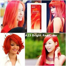 Berina Permanent Color Hair Dye Cream Bright Red # A23 Gloves
