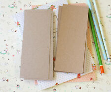 Kraft Bookmark blanks 20pcs recycled brown card stock handmade DIY craft cards