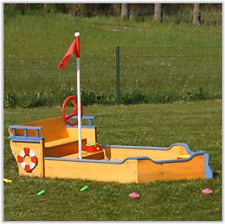Kids Sand Pit Play Set Pirate Boat Outdoor Childrens Garden Fun Birthday Party