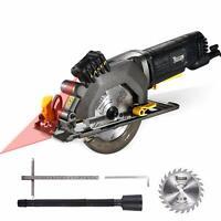 "Circular Saw, TECCPO 4-1/2"" 3500 RPM 4 Amp Compact Circular Saw with Laser Guide"