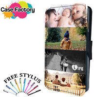 Personalised Custom Printed Photo Picture Flip Wallet Phone Case Cover Samsung
