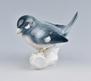 Rorstrand (Sweden) Porcelain Finch On Branch by Waldemar Lindstrom