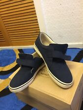 CLARKS Mens Canvas Shoes Slip On Casual Comfortable Shoes Size 9 UK  Used Blue