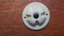 Vintage Mid-Century Modern Retro Round Cream Bakelite Doorbell Button