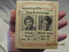 1974 Advertisement Bobby Vinton & Martha Raye at Executive Inn in Evansville IN