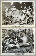 2 Photos originales LE MONDE PERDU The Lost World IRWIN ALLEN Michael Rennie