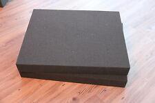 2x Rasterschaumstoff  Würfelschaumstoff  Koffereinlage Fotokoffer 500x400x40mm