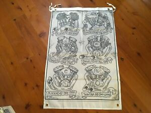 Harley Davidson engines Printed poster man cave flags wall hanging bar banner