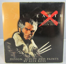 """Earth X: Logan 2001 Wolverine Bronze Bust Limited 474/599 5+"""" Signed COA Ross"""