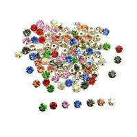100Pcs Multicolor Sew On Rhinestones Beads Embellishments for DIY Jewelry Making
