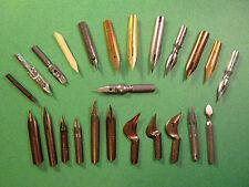 Special Nib Lot Vintage Rare Dip Pen Flex Flexible Oblique EnglandUS calligraphy