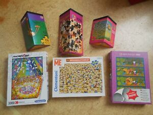 Puzzle-Sammlung, 6 Puzzle, 500 - 1.000 Teile, Mordillo, Minions, Heye-Puzzle