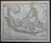 Southeast Asia Malaysia Philippines Sumatra European Colonies 1867 Stieler map