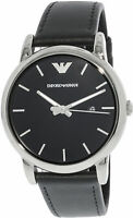 Emporio Armani Men's Classic AR1692 Black Leather Japanese Quartz Dress Watch
