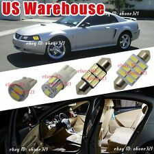 14-pc Super White LED Lights Interior Map Package Kit For 94-04 Ford Mustang