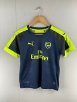 EPL Mens Navy Short Sleeves Regular Fit Arsenal Football Soccer Jersey Size 28