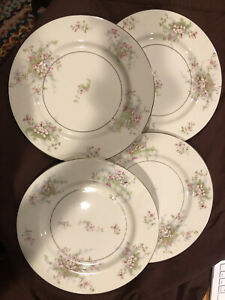 SET OF 4 - Theodore Haviland New York Apple Blossom China Dinner Plates 10""