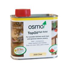 Osmo Top Oil - 3058 Clear Matt, (Kitchen Worktop Wood Oil) Food Safe Child Safe